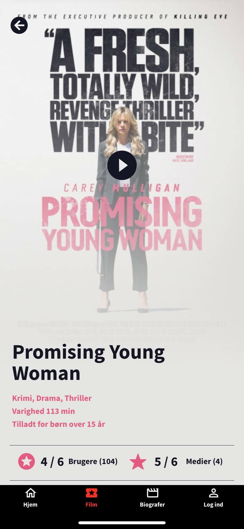 promising young woman screenshot kino app