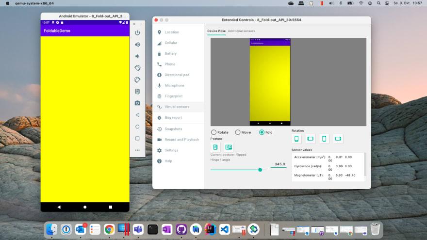 FoldableDemo in smartphone mode
