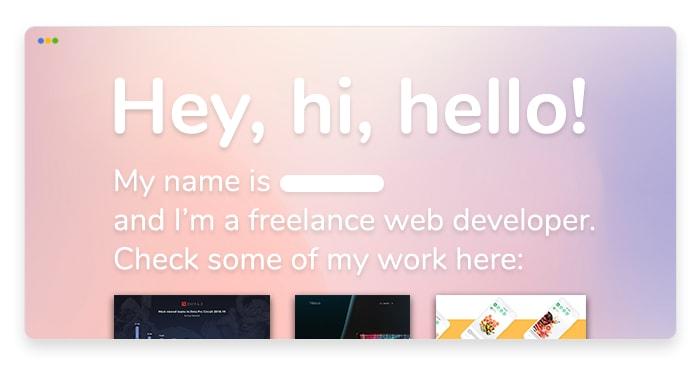 artwork depicting a stylized web developer portfolio