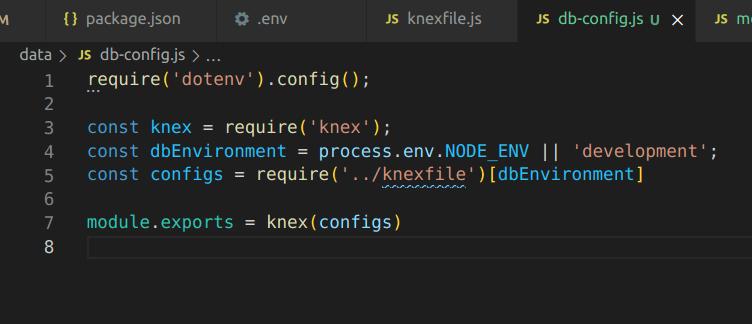 db config file