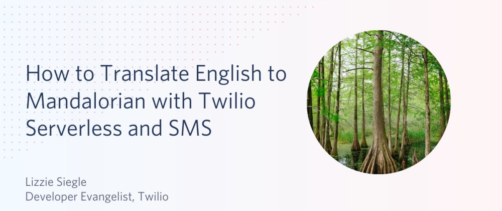 Cover image for How to Translate English to Mandalorian with Twilio Serverless and SMS