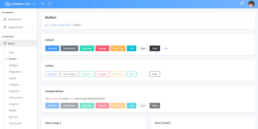 Gradient Able - UI Buttons.