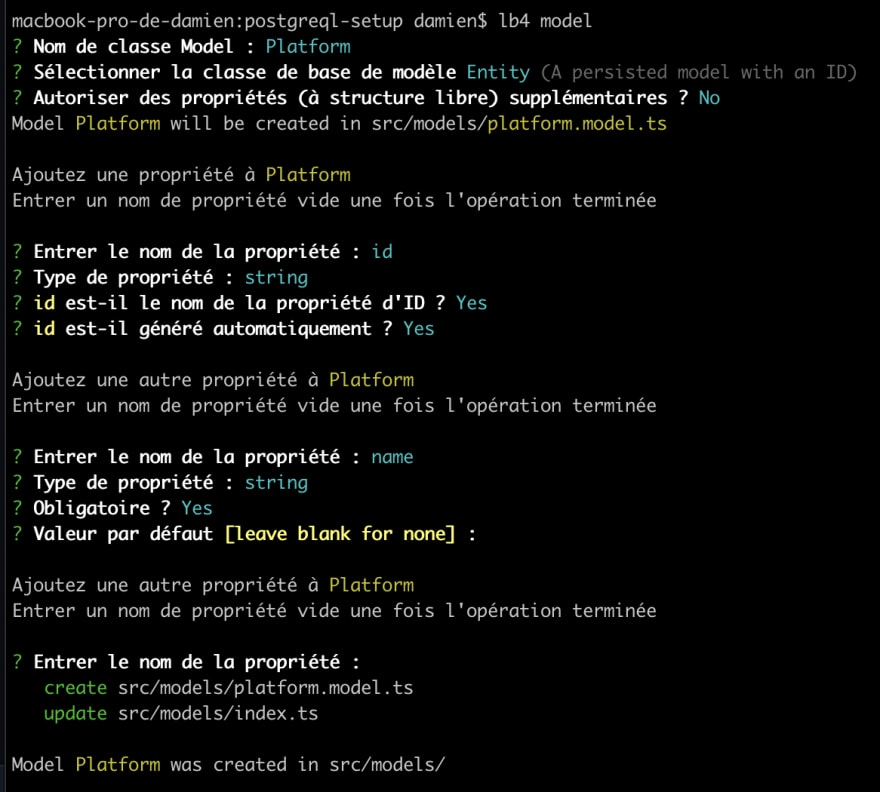 Creating the Platform model