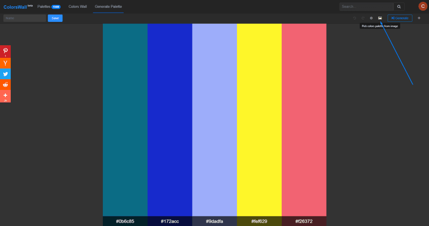 Generate color from an image