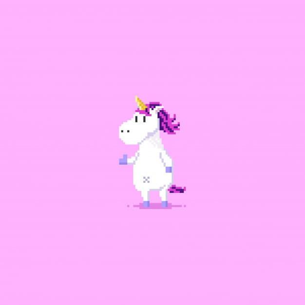 pixel thumbs up unicorn
