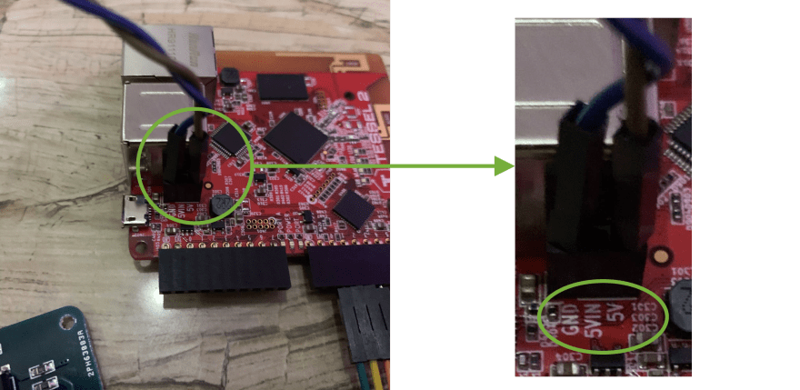 GND and 5v connection