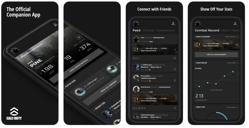 React Native apps: Call of Duty app screenshots