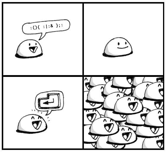 Cute Forkbomb Comic
