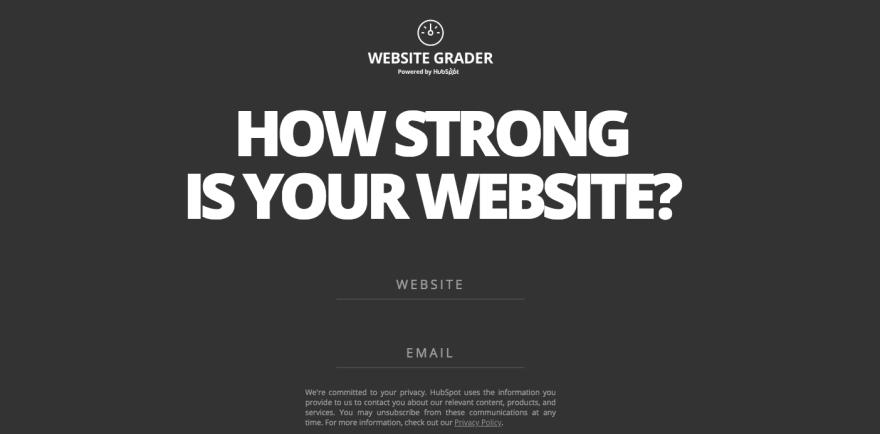 Website Grader by Hubspot