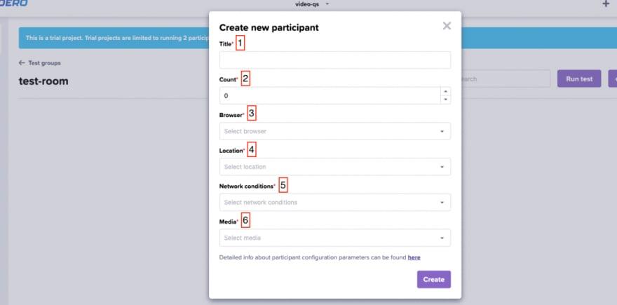 Configure a Loadero participant