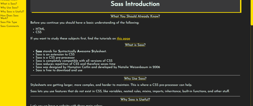 Cover image for FCC Technical documentation - SASS (I will be happy to hear comments :))