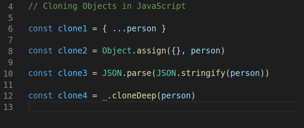 Cover image for Cloning an object in JavaScript and avoiding Gotchas