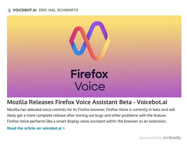 Mozilla Releases Firefox Voice Beta