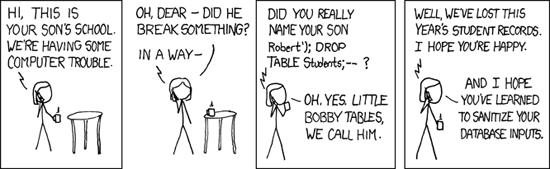 SQL injection meme