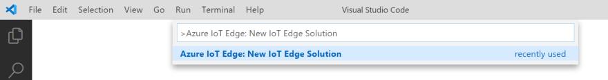New IoT Edge Solution