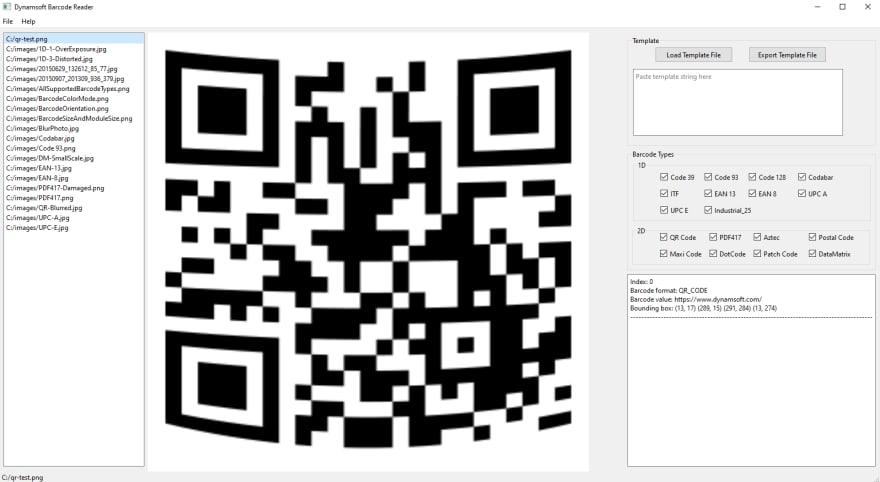 Qt C++ GUI barcode reader