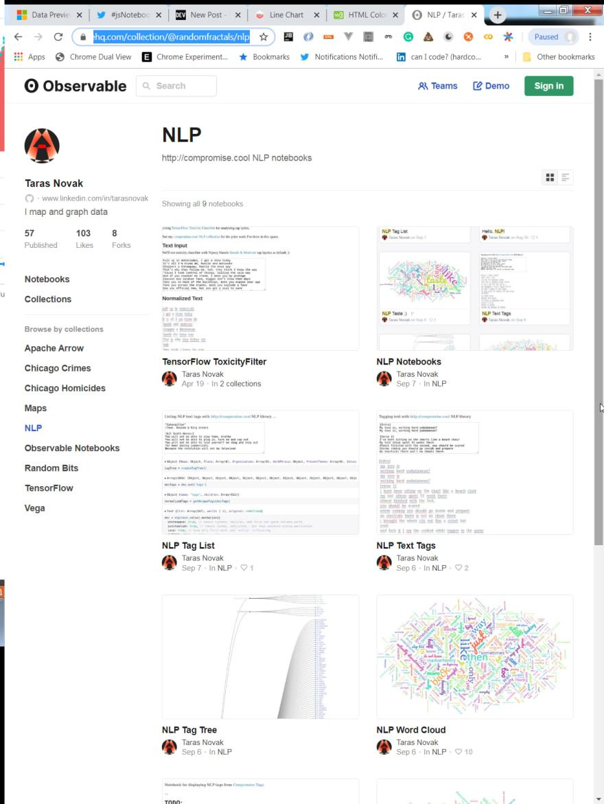 NLP JS Notebooks