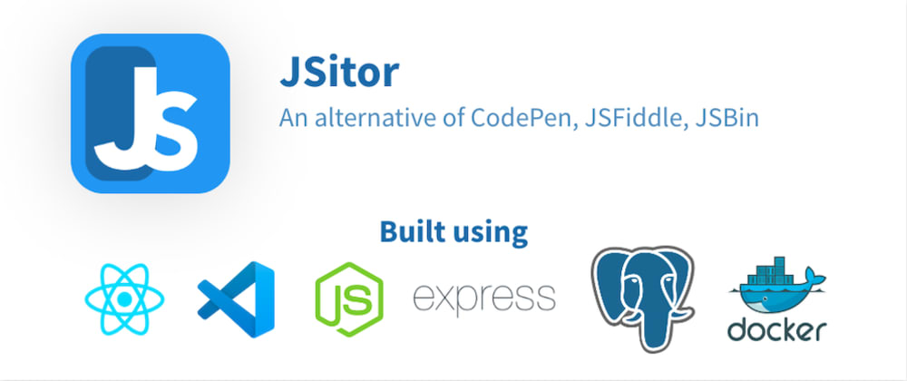 Cover image for JSitor, an alternative of CodePen, JSBin and JSFiddle