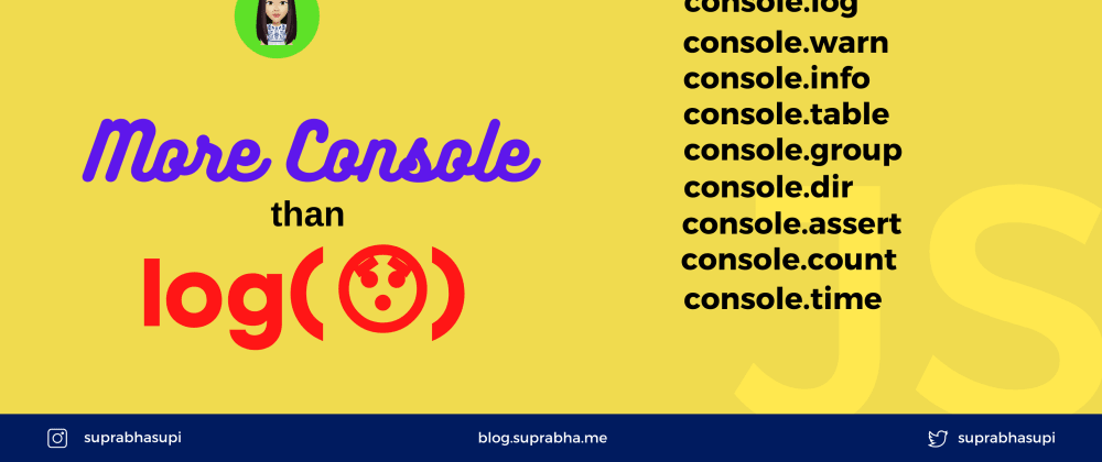 Cover image for Use Javascript console like pro