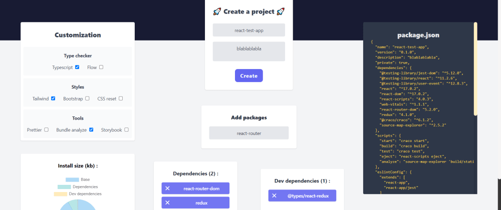 Cover image for I built a React app generator.