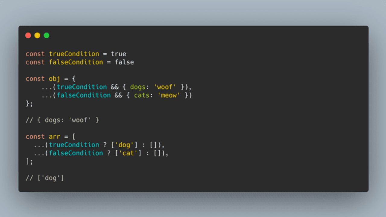 How to Conditionally Add to an Object or Array in JavaScript   DEV ...