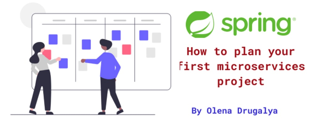Cover image for How to plan your first project with microservices and Spring Boot