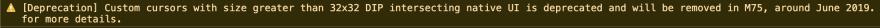cursor-warning