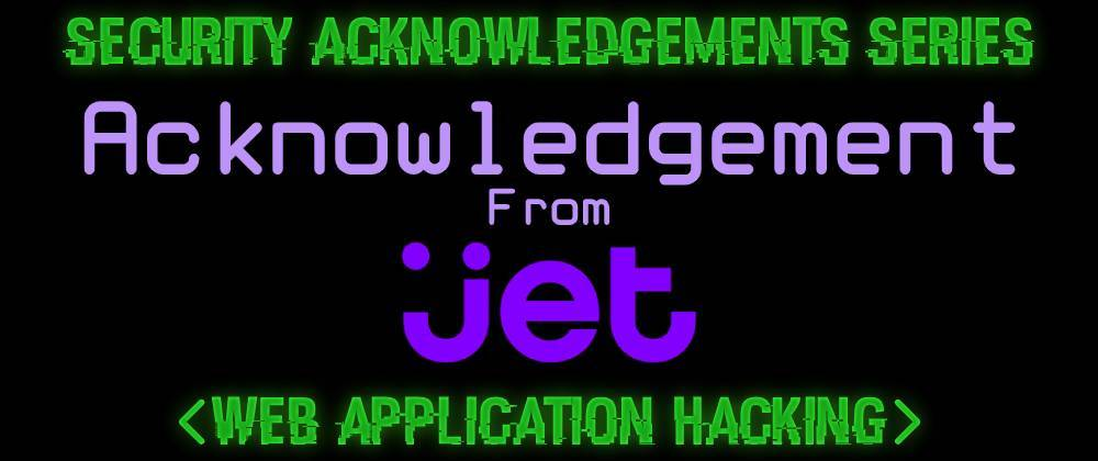 Cover image for Acknowledgement From Jet