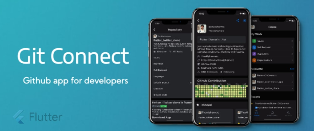 Cover image for GitConnect - A Github application built in flutter