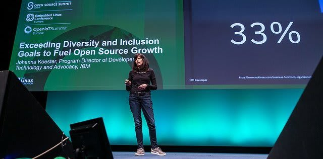 Johanna speaking at Open Source Summit 2018