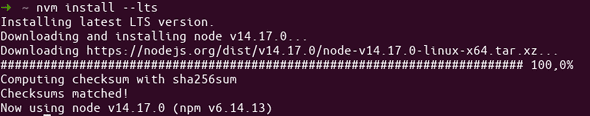 Installing latest Node.js version with NVM