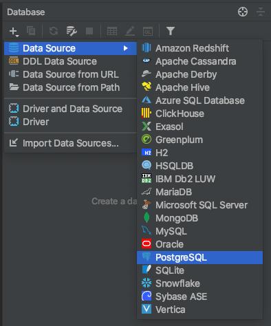 Add a PostgreSQL data source, IntelliJ and YugabyteDB example