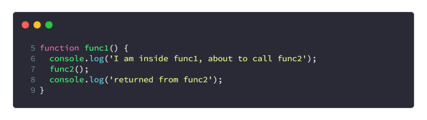 func1's context in code sample