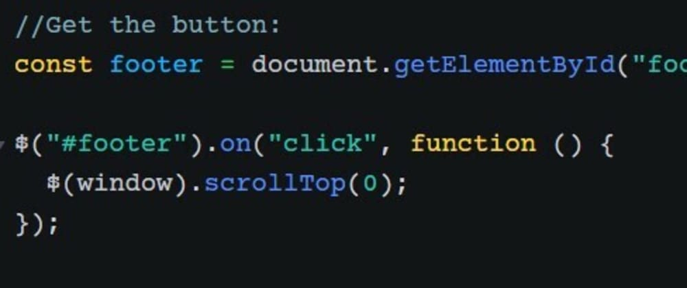 Cover image for How to make to top using 5 lines of jQuery