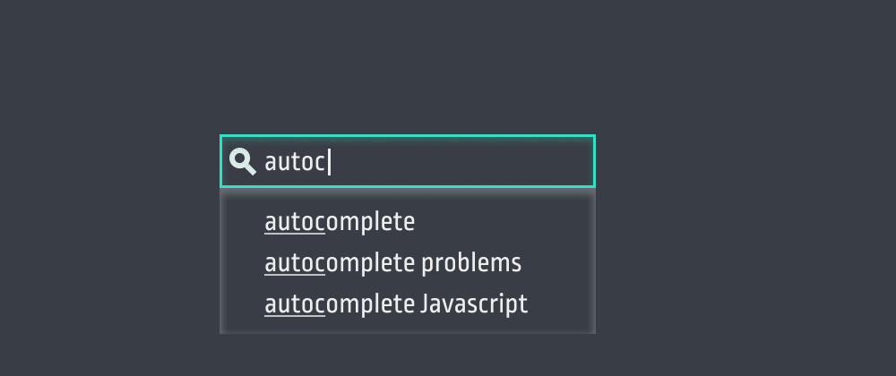Cover image for The problem with autocomplete and how to fix it