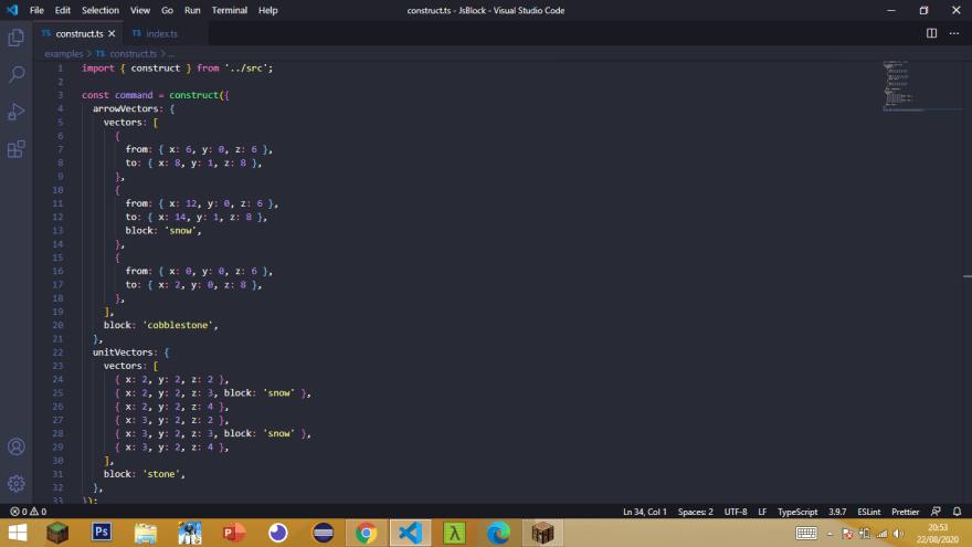 JsBlock: construct method