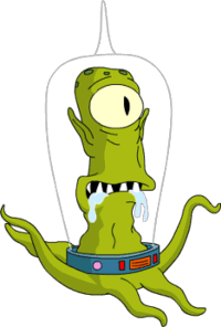"""The alien Kang from """"The Simpsons"""""""