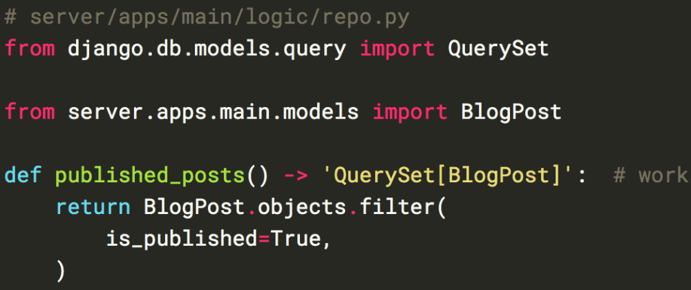 Cover image for Typechecking Django internals and querysets