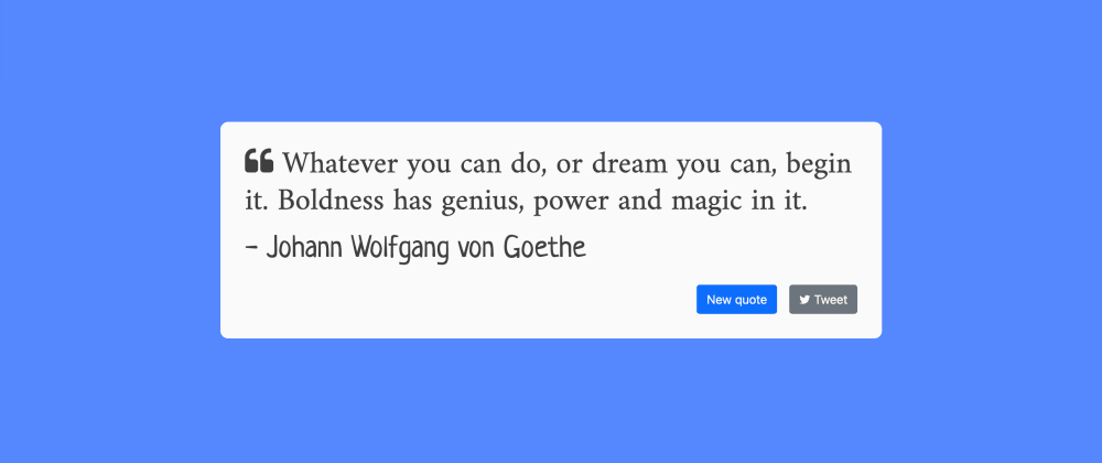 Cover image for How to Create a Simple Random Quote App with Angular