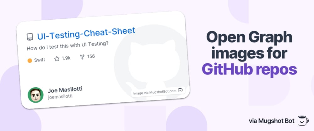 Cover image for A free tool to generate Open Graph images for GitHub repos
