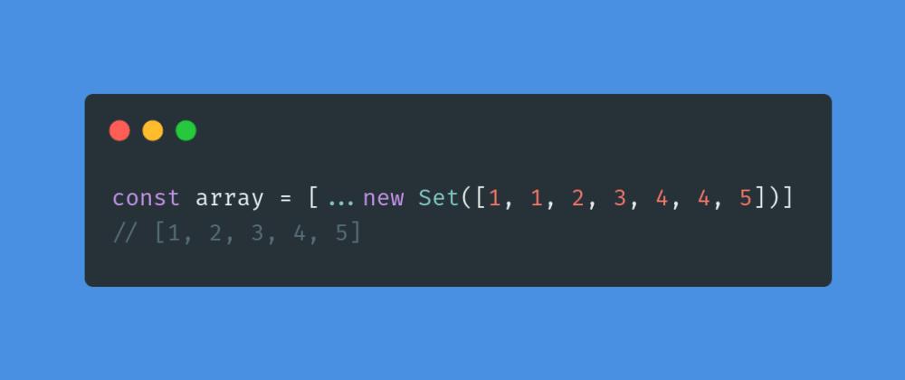 Cover image for Removendo repetições de um array com a classe Set