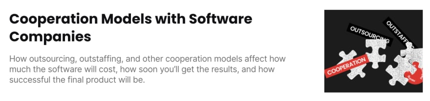 Cooperation models with software companies