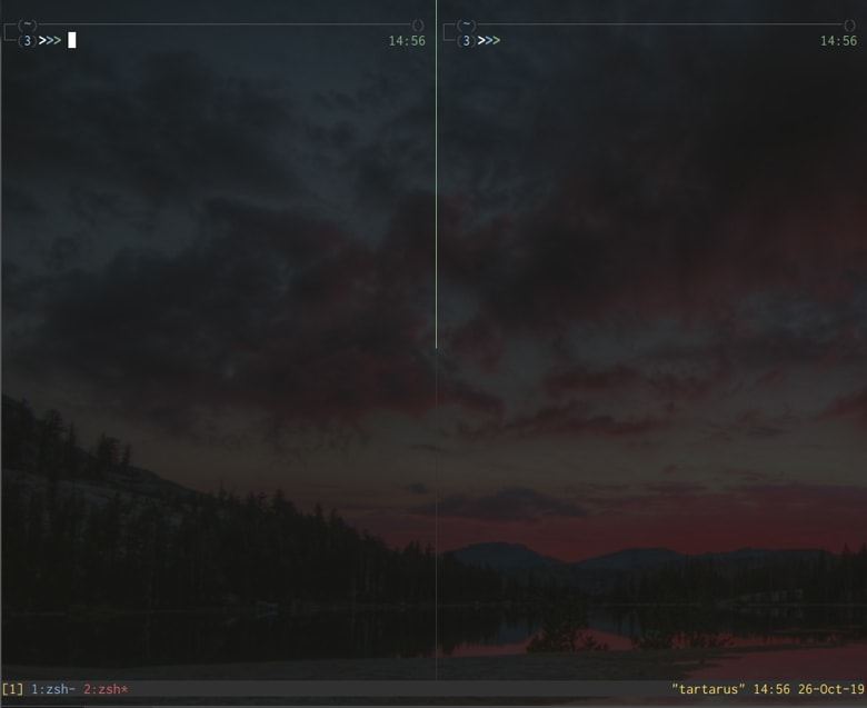 tmux with solarized theme