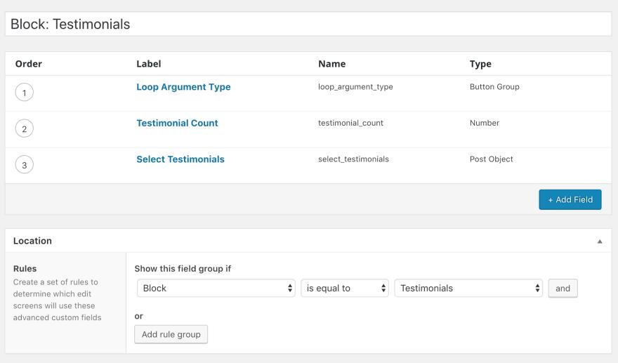 Creating the block controls custom fields