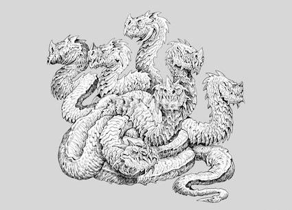 Hydra, a multi-headed serpent