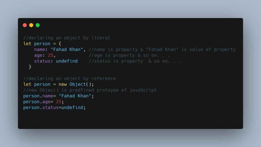 Alt literal vs reference in javascript
