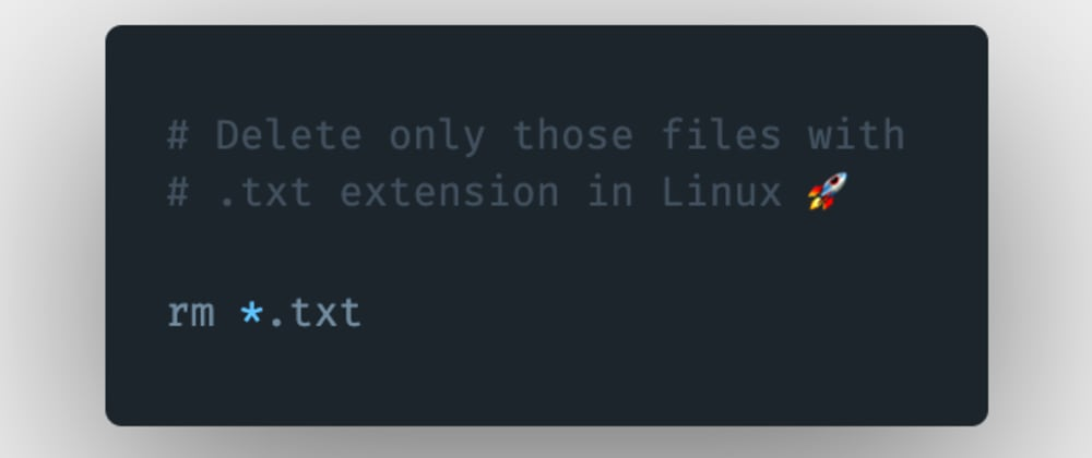 Cover image for How to remove files from a directory having a specific extension in Linux?
