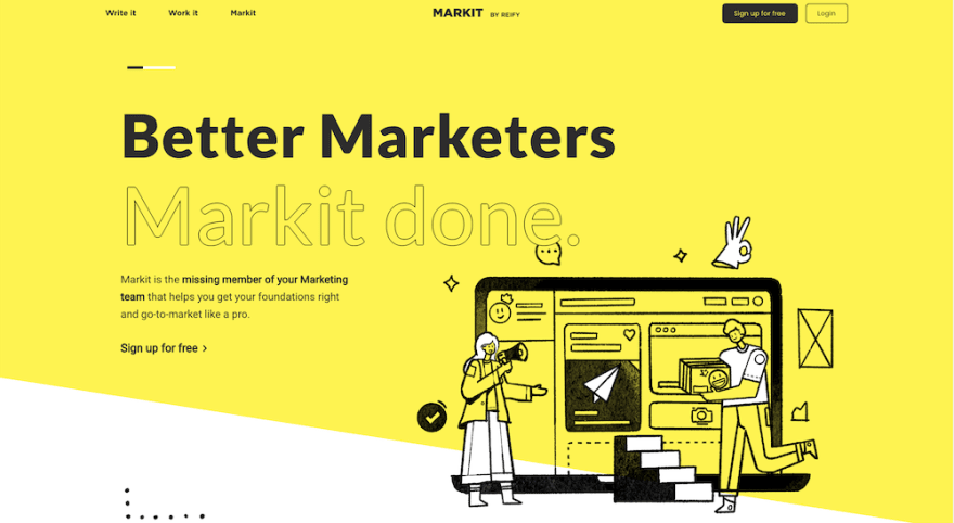 Markit by Reify product website