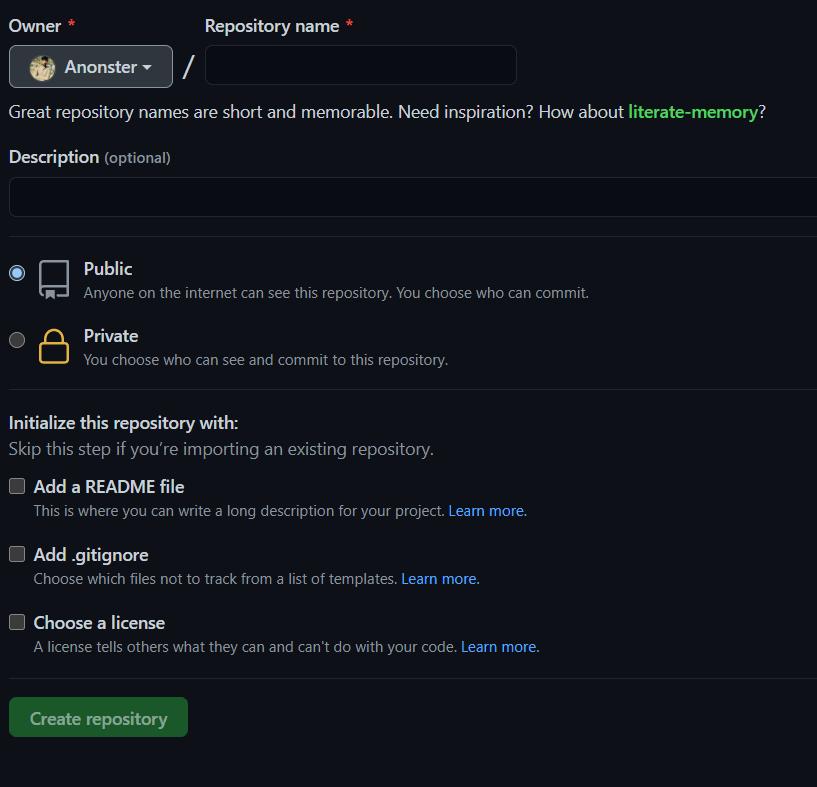 Create a GitHub repo