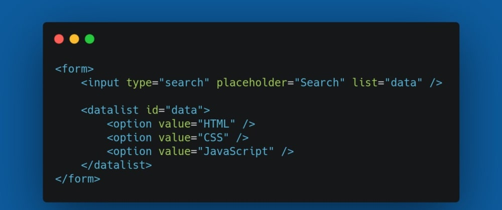 Cover image for How to make a html search datalist for Vue